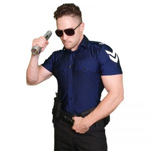 male stripper costume police shirt top